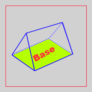 Base of a triangular prism