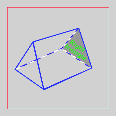 Triangular prism with right triangle face