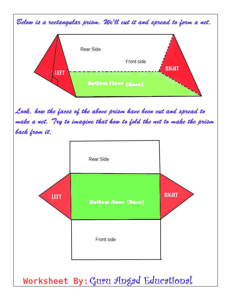 Drawing Net of a Triangular Prism Steemit – Surface Area Triangular Prism Worksheet